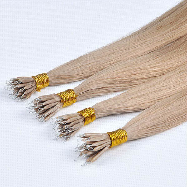 European Remy Nano Ring Hair Extensions Eva Seamless Hair Extension